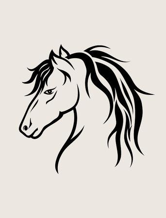 Horse Face, art vector design
