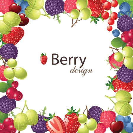 berries frame for your designs