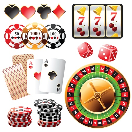 Highly detailed casino design elements