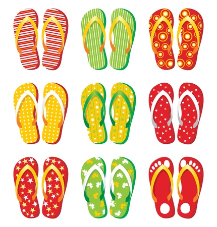 colorful flip-flop icons
