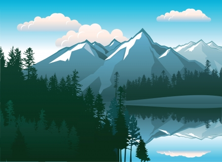 landscape with beautiful mountains and forests
