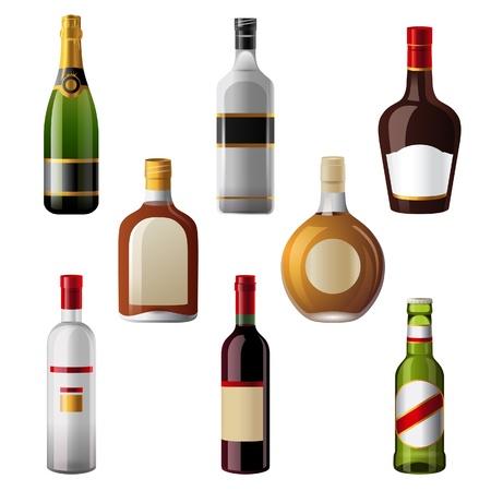 8 shiny alcohol drinks icons