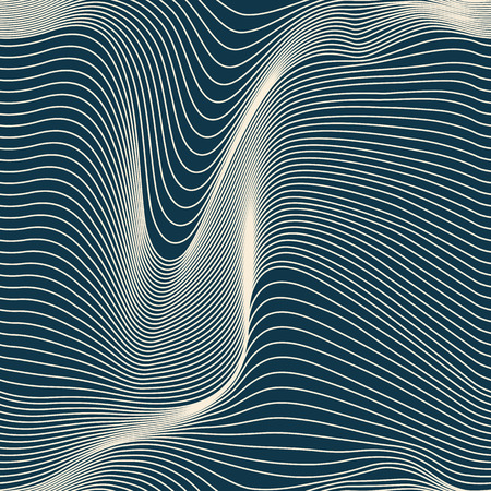 Illustration pour abstract wavy lines seamless pattern - image libre de droit
