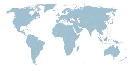 Illustration pour Highly detailed political world map - image libre de droit