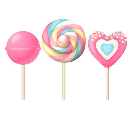 Illustration pour Sweet lollipops illustration - image libre de droit