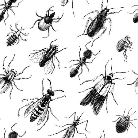 Ilustración de Pest control seamless pattern - Imagen libre de derechos