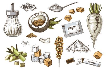 Ilustración de Hand drawn sugar icons set - Imagen libre de derechos