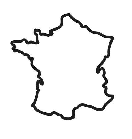 Photo pour france map simplified outline silhouette vector - image libre de droit