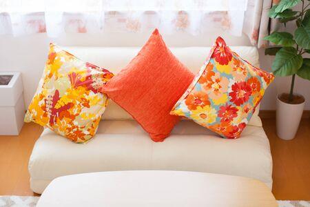 Photo pour Cushion on the sofa - image libre de droit