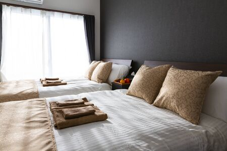 Photo pour Interior of a bedroom - image libre de droit