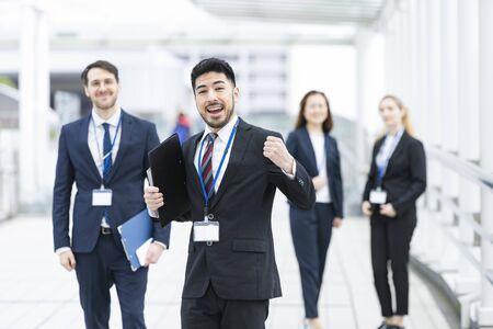 Photo pour Rejoice Business Team - image libre de droit