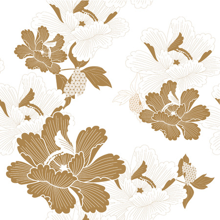Illustration for New Year decoration and ornaments illustration vector in Japanese style. - Royalty Free Image