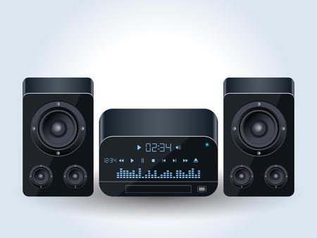 Illustration pour Home audio system realistic vector illustration - image libre de droit