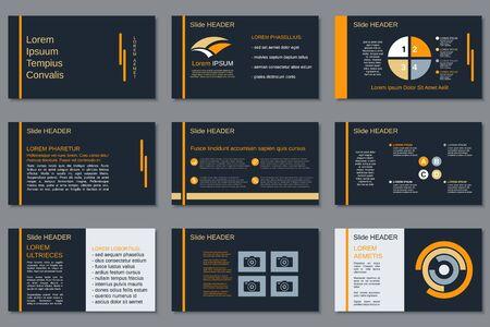 Illustration pour Professional business presentation, slide show, infographic elements, annual report, brochure design - image libre de droit