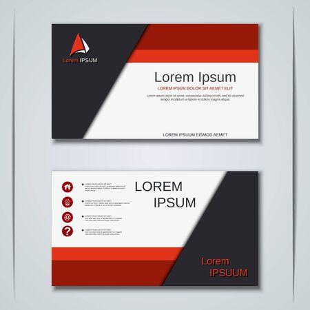 Illustration pour Modern abstract geometric style business visiting card, label, sticker, badge vector design template - image libre de droit