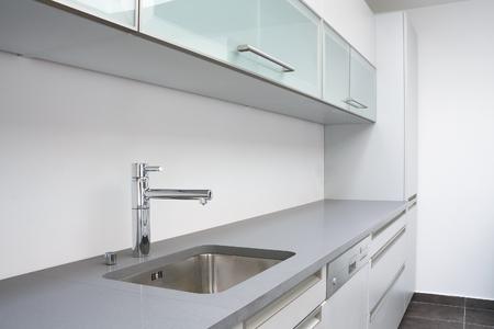Luxurious modern kitchen with sink