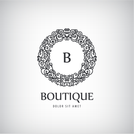 Vector Luxury Vintage logo, icon. Business sign, identity for Restaurant, Royalty, Boutique, Hotel Heraldic Jewellery Fashion Real estate Resort King tattoo, Auctions