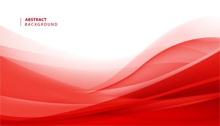 Illustration pour Vector abstract red wavy background. Curve flow motion illustration - image libre de droit