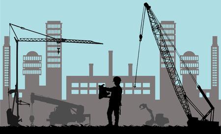 Illustration pour Construction place  - image libre de droit