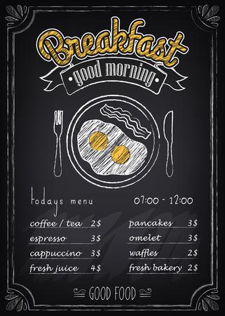 Chalkboard Breakfast Poster