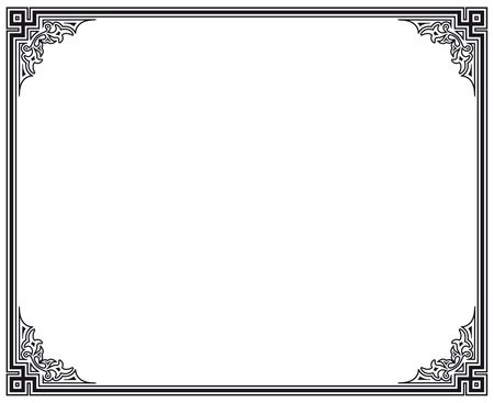 black and white vector frame