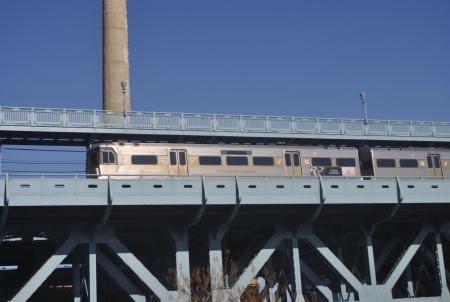 Commuter train in Philadelphia