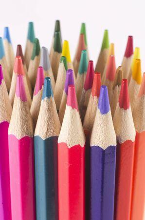 Foto de colors colorful wood pencils art - Imagen libre de derechos