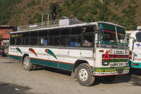 BENI, NEPAL - CIRCA NOVEMBER 2013: bus station in Beni circa November 2013 in Beni.