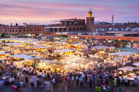 MARRAKESH, MOROCCO - CIRCA SEPTEMBER 2014: Jamaa el Fna in Marrakesh circa September 2014 in Marrakesh.