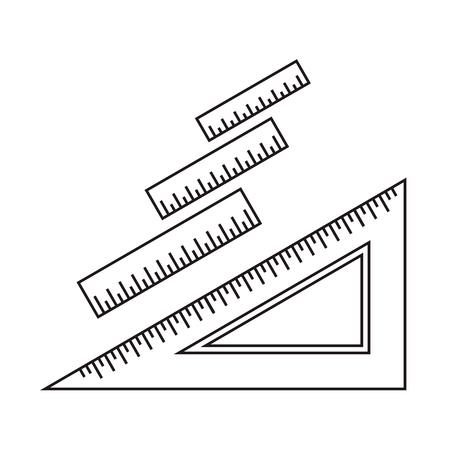 Illustration pour Ruler icon. Ruler symbol. Office Supply Objects. Flat Vector illustration. - image libre de droit