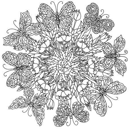 Floral Butterfly Mandala