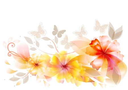 flowers back for your design
