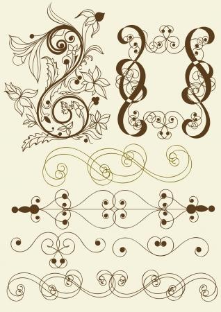 Calligraphic  elements of design