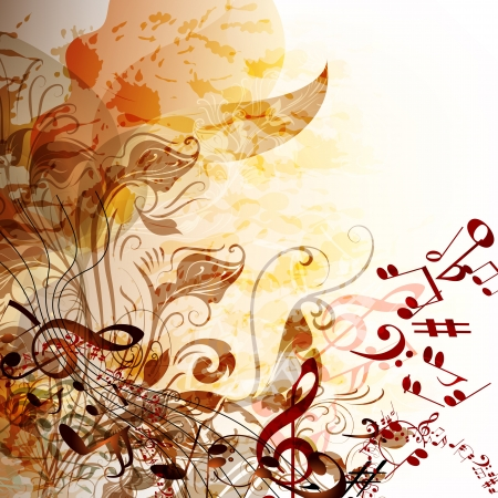 Creative music background with notes for design