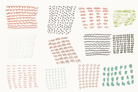 Illustration pour Set of vector hand drawn textures - image libre de droit
