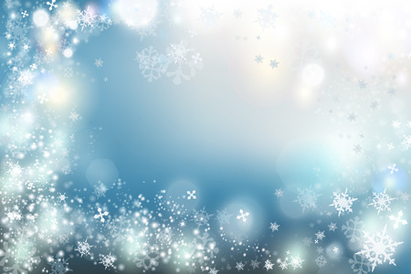 Illustration pour Christmas background vector winter illustration with crystal snowflakes. New Year theme - image libre de droit