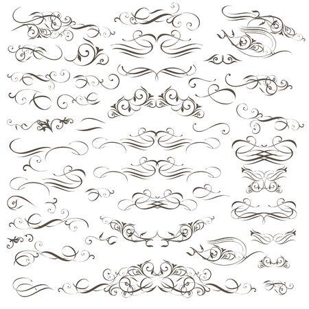 Illustration pour Big collection of vector decorative flourishes and swirls for design - image libre de droit