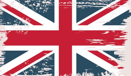 Illustration pour British vector flag in grunge vintage style - image libre de droit