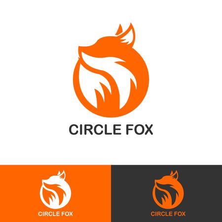 Illustration for SIMPLE CIRCLE FOX ICON LOGOTYPE - Royalty Free Image