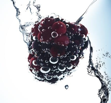 Fruit in pure water. Splash