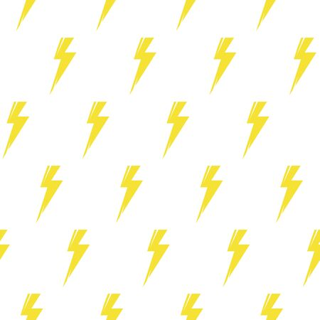 Ilustración de Thunder bolt seamless pattern. Flash symbol abstract abstract background for wallpaper, cover fills, web page background, surface textures, textile print. Vector repeating lightning backdrop. - Imagen libre de derechos