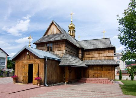 wooden Church of the Assumption of the Virgin in Chortkiv, Ukraine, Europe,