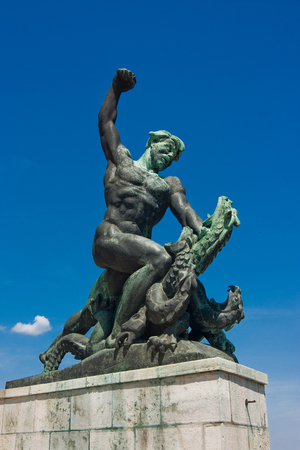 Monument at Gellert Hill, Budapest, Hungary