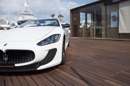 Porto Cervo, Sardinia in August Maserati GranCabrio