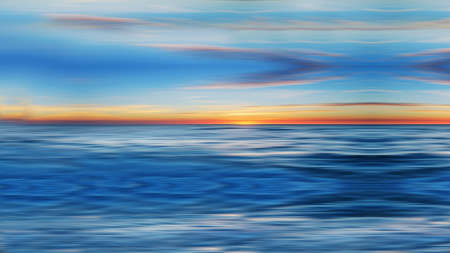 Photo for Abstract panoramic view of the sunset over the sea - Royalty Free Image