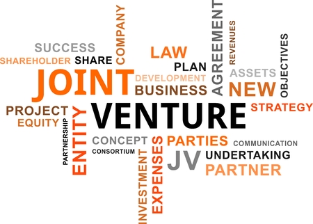 A word cloud of joint venture related items