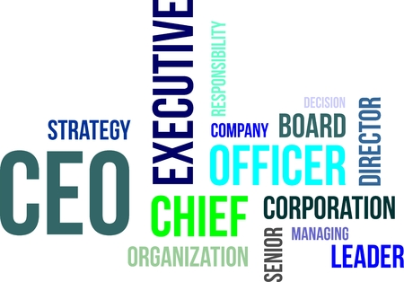 Illustration pour A word cloud of chief executive officer related items - image libre de droit