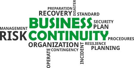 Illustration pour A word cloud of business continuity related items - image libre de droit