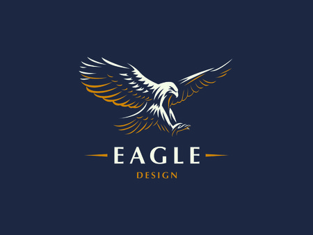 Foto per The flying eagle. Vector emblem. - Immagine Royalty Free