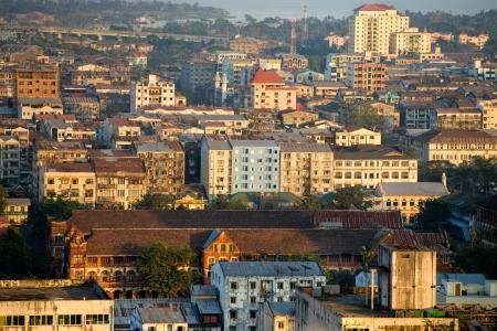 Panoramic View of Yangon  Yangon, Myanmar